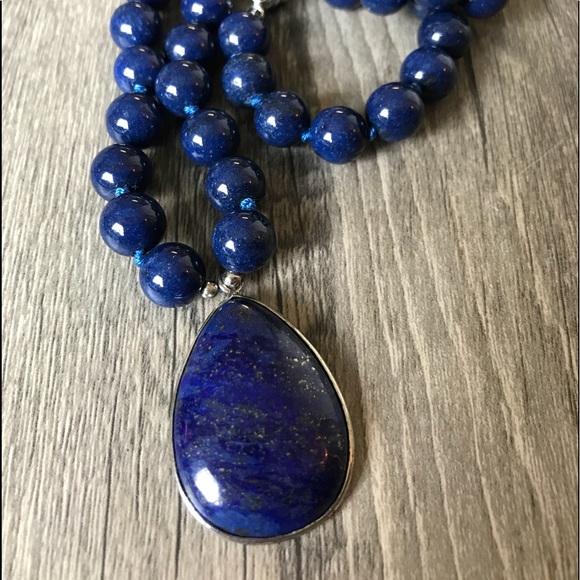 Lapis Lazuli Necklace | Dhanalakshmi Jewellers